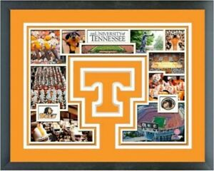"Tennessee Volunteers Custom Matted Photo Collage (Size: 12.5"" x 15.5"") Framed"