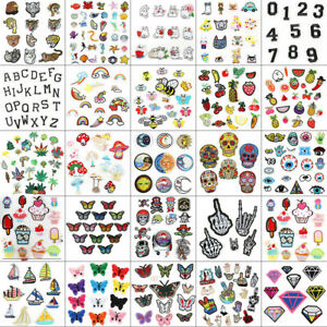 Mix Bags DIY Embroidered Sew Iron On Patches Badge Fabric Applique Sticker Craft