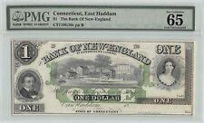 United States / East Haddam, CT 18xx PMG Gem UNC 65 EPQ 1 Dollar (Remainder)