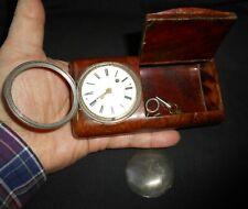 RARISSIME MONTRE à au COQ TABATIÈRE BOX SNUFF antique watch Spindeltaschenuhr