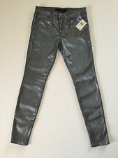 NWT Joes Jeans The Skinny in a metallic silver sparkle 27 $225