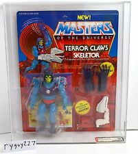 MOTU, Terror Claws Skeletor, AFA 80, Graded, Masters of the Universe, MOC sealed