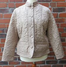 Light Taupe 'Quilted' Jacket by Anne Weyburn. Size UK 22, New