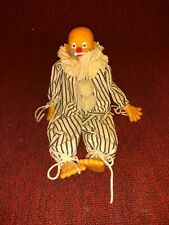 "Vintage Musical Wind-Up Clown Doll plastic parts 14"" Bring in the clowns"