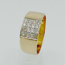 Ring 875/- 21k Weißgold Diamanten Gr. 58