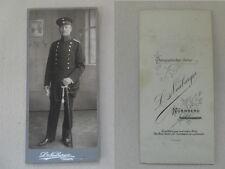 Große CDV Nürnberg Offizier in Uniform und Säbel