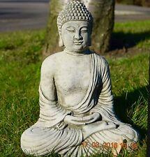 MEDITATING BUDDHA Oriental Classic Stone Cast Garden Ornament Statue Koi gift