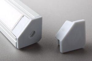 Eloxierte 1 Meter LED Aluminium Profile GLL-07  +  Abdeckung + Endkappe
