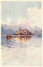 ISOLA di SAN GIULIO. Lago d'Orta.Orta San Giulio. Stampa Antica.Certificato.1905