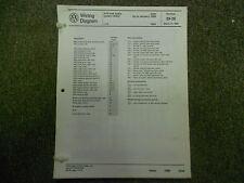 1989 VW Jetta Anti Lock Brakes Fuse Relay Panel Wiring Diagram Service Manual 89