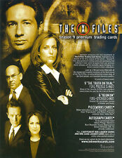 X-FILES SEASON 9 2003 INKWORKS PROMO PROMOTIONAL SALE SELL SHEET TV
