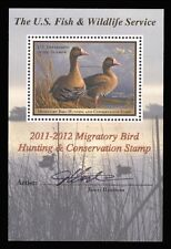 RW78B FEDERAL DUCK STAMP SOUVENIR SHEET - SUP 98 W/ PSE GRADED CERT.