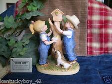 """Home Interiors Homco Denim Days """"Our Birdhouse"""" Figurine w/Tag #8888"""