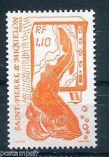 ST-PIERRE-et-MIQUELON, 1987, timbre 480, POISSON, LA PECHE, neuf**