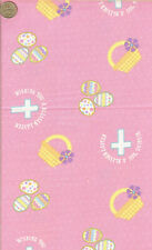 """RARE! """"WISHING YOU A BLESSED EASTER - DAVID TEXTILES - 3 YD15"""" LONG"""