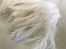 20 White Fluffy Rooster Feathers 10-15cm DIY Art Craft Millinery Dream Catcher