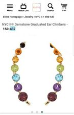 Chuck Clemency NYCII 18k yellow gold Sterling silver Rainbow climber ear earring
