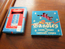 Vintage Holiday candles in box,for angel chimes-carousel 18pcs.Japan,Holland
