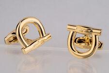 Salvatore Ferragamo cufflinks Gold jewelry Designer accessories Brass Metal