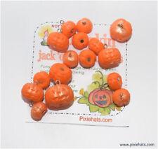 Pumpkin charms Halloween Ivy jack 'o' lantern beads polymer clay pendant Samhain