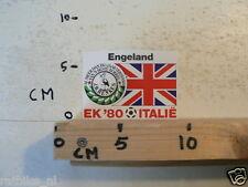 STICKER,DECAL EK 80 ITALIE VOETBAL,SOCCER JH HENKES,ENGELAND UK A