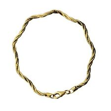 Sterling silver and 18ct yellow gold plated three-strand wave bracelet