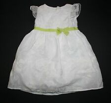 New 2T Gymboree Girls Floral Embroidered Organza Dress White with Bow NWT