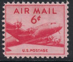 Scott C39- DC-4 Skymaster- MNH 6c 1949- unused mint AIRMAIL stamp