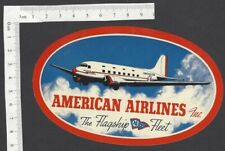 American Airlines – The Flagship Fleet vintage label