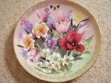 Collectable Lena Liu Bradford exchange by George porcelain plate,Tulip