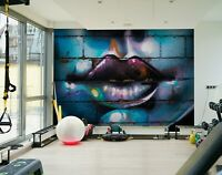 3D Wall lips R116 Business Wallpaper Wall Mural Self-adhesive Commerce An