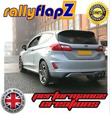 rallyflapZ FORD FIESTA MK8 ST ST-LINE Mud Flaps Kit Black 4mm PVC -RF Silver Fox