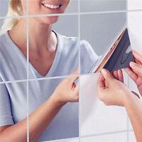 9x Reflektierenden Spiegel-Wand-Sticker Dekor Spiegel Fliesen Aufkleber FPO