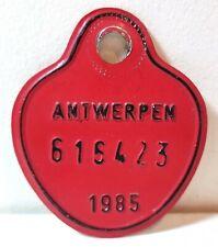 1985 Antwerp, Belgium bicycle license plate; Antwerpen, bike