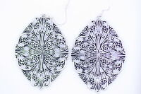 Lovely vintage style antique silver coloured cutout drop dangle earrings