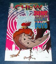 CHEW SECRET AGENT POYO #1 signed 1st print ROB GUILLORY iMAGE COMIC 2012 HOT