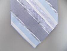 "RYAN SEACREST $75 MEN Gray Striped Skinny WIDTH 3"" NECK TIE 100% Silk S23"