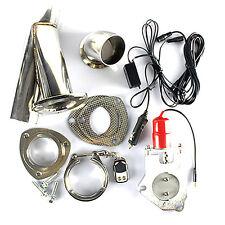 "2.5/3"" Electric Exhaust Muffler Valve Cutout System Dump Wireless Remote Control"