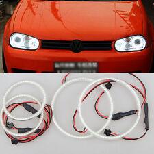 4pcs xenon WHITE  led SMD Angel Eyes Halo Rings lights For VW Golf Mk4 1997-2003