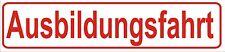 """Auto Magnetschild 30x7 cm """"Ausbildungsfahrt"""" Feuerwehrführerschein RÜCKSTRAHLEND"""