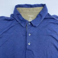 Van Heusen Polo Shirt Mens XXL Blue Classic Fit Short Sleeve Casual