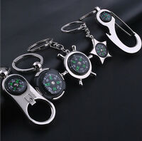 Fancy Creative Compass Metal Car Keyring Keychain Key Chain Ring Keyfob Gift_ti