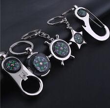 Fancy Creative Compass Metal Car Keyring Keychain Key Chain Ring Keyfob Gift FO