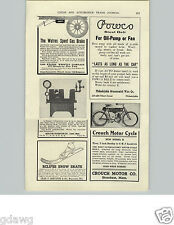1905 PAPER AD Crouch Motorcycle Motor Cycle New Model B Stoneham Mass
