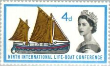 GREAT BRITAIN -1963- Lifeboat Conference/19th-century Lifeboats (phosphor)-#369p