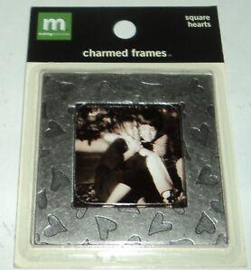 """Making Memories Be Inspiré Charmed Frames 2 1/4 """" Carré Cœurs Nip"""
