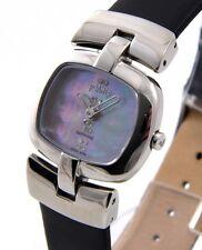 ROAMER SC2234 Damen Uhr Edelstahl Leder schwarz Saphirglas SwissMade