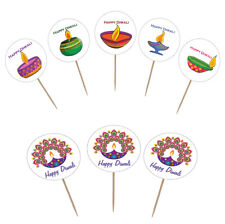 Diwali Holiday Party Supplies (Diwali Cupcake Toppers 12 pack)