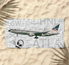 Delta Airlines Lockheed L-1011 with Airport Codes -  Beach Towel