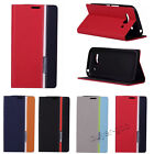 Hot Tri-Color Leather Wallet Card Case Cover For Alcatel ONE Touch POP C5 C7 C9